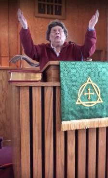 Nancy saying benediction copy