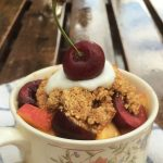 No-Bake Gluten-Free Stone Fruit Crisp