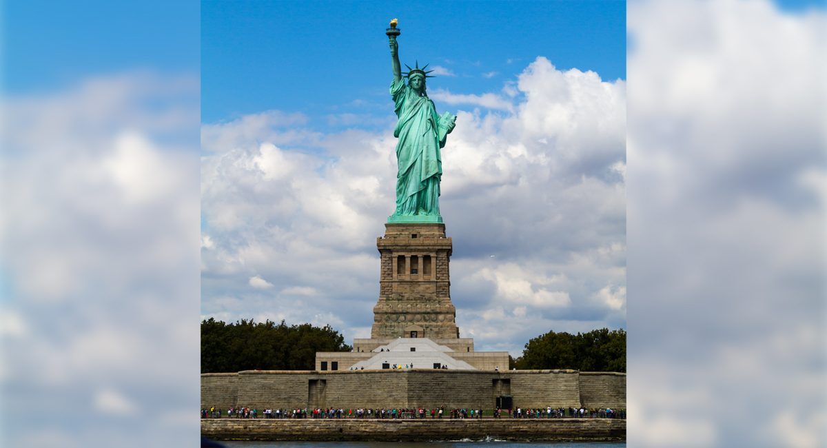Ellis Island And The Statue Of Liberty New York By Rail