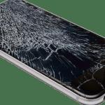Cracked iPhone screen