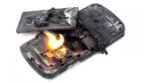 Phone battery on fire - How to fix