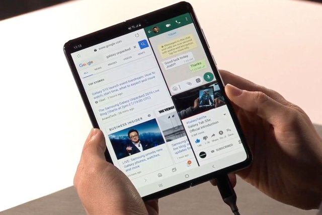 multitasking on samsung galaxy fold