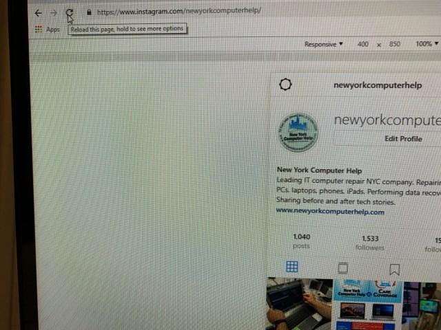 Instagram computer posting