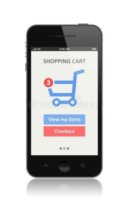 Mobile apps used in e-commerce