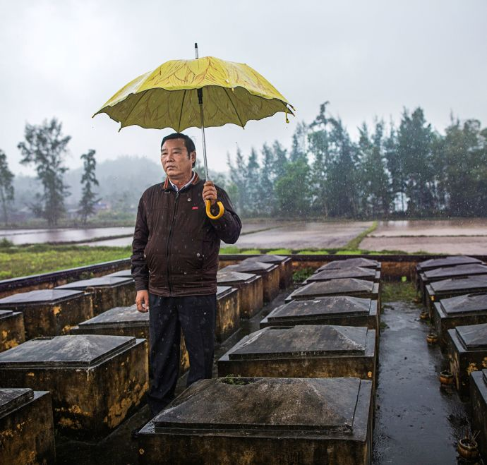 """Pham Thanh Cong, the director of the My Lai Museum, was eleven at the time of the massacre. His mother and four siblings died. """"We forgive, but we do not forget,"""" he said."""