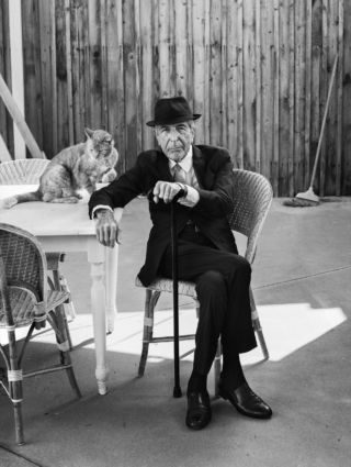 Leonard Cohen at home, Los Angeles, September, 2016.