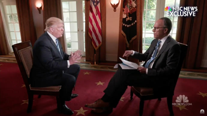 Trump would rather raise the possibility that he had an improper conversation with James Comey than leave the impression that he couldn't instruct others to do anything he desired.