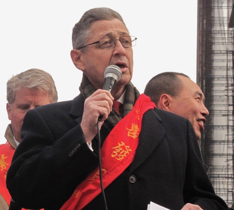 Sheldon Silver in happier times - at Chinatown's Lunar New Year Parade in 2012.