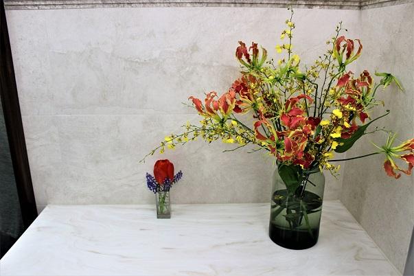 Flowers restroom Bryant Park NYC