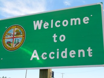 """I thin I need a """"Leaving Accident"""" sign."""