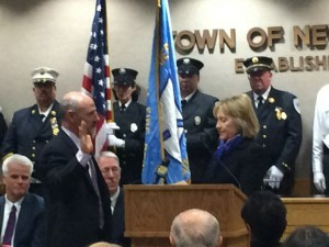 Hillary Clinton swears in Rob Greenstein as Town of New Castle Supervisor