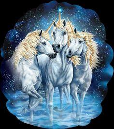 three unicorns