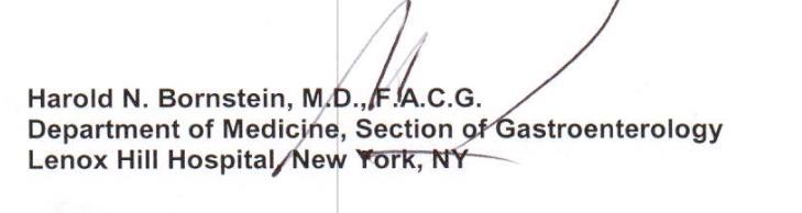 Bornstein Signature block