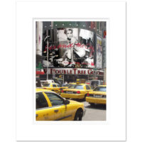 Yellow Cabs Times Square New York Art Print TSC001 16 x 20 inch