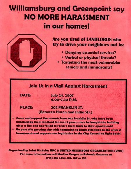 Vigil Against Harassment
