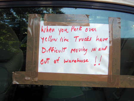 Sign on Eagle Street