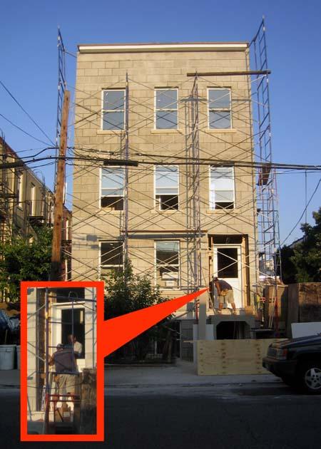 154 West Street at work 10/6/07