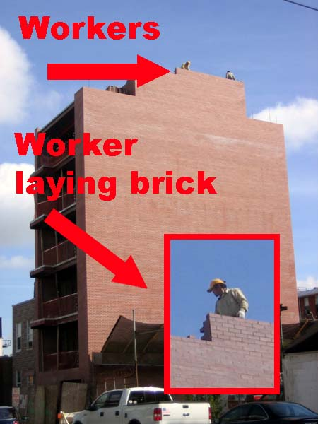 Bricklayers a laying!