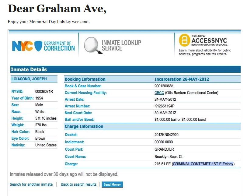 New York Shitty Day Ender: 373 Graham Avenue, Revisited