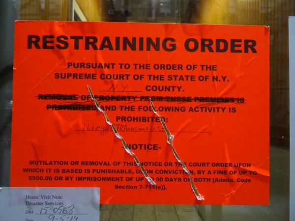 Restraining Order nys