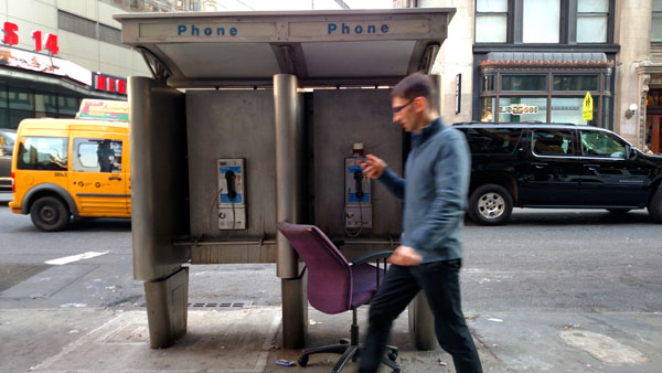 Pay Phone Broadway at East 13 Street nys