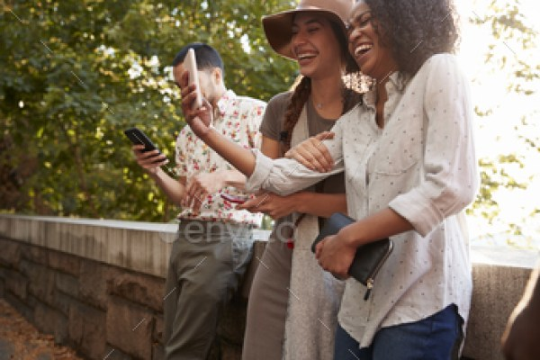 HD Stock Images Of Tourists Taking Photos On Mobile Phones in New York