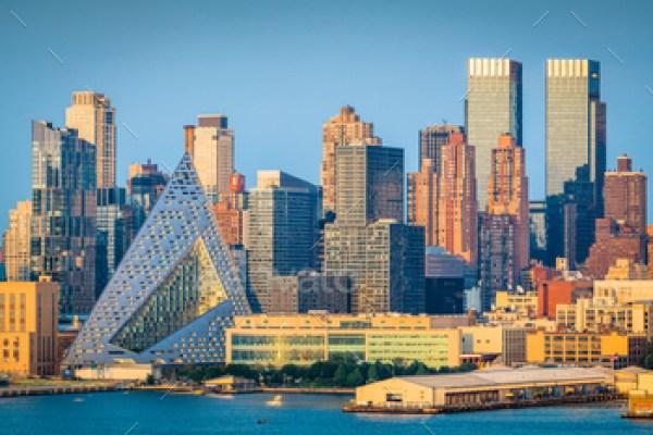 Midtown Manhattan skyline with landmark buildings