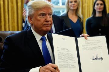 Donald Trump signed executive order