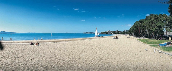 Top beaches in new zealand worth a visit this summer - Mission bay swimming pool auckland ...