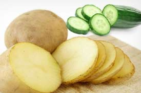 Potato and cucumber