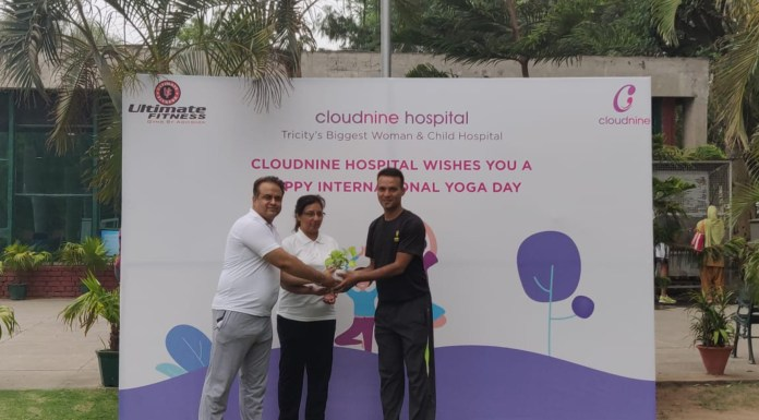 Cloudnine Group of Hospitals organises yoga training in Chandigarh