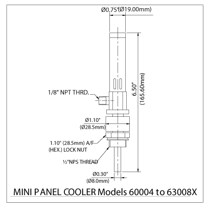 mini cabinet cooler dimensions