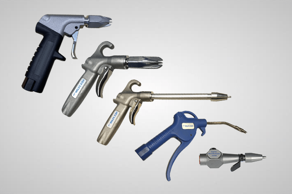 An image showing 5 different Safety Air Guns