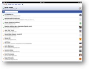 Google Talk for iPad screenshot