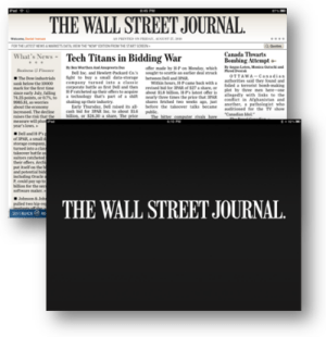 Wall Street Journal for iPad screenshot