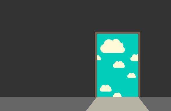 Door leading to sky