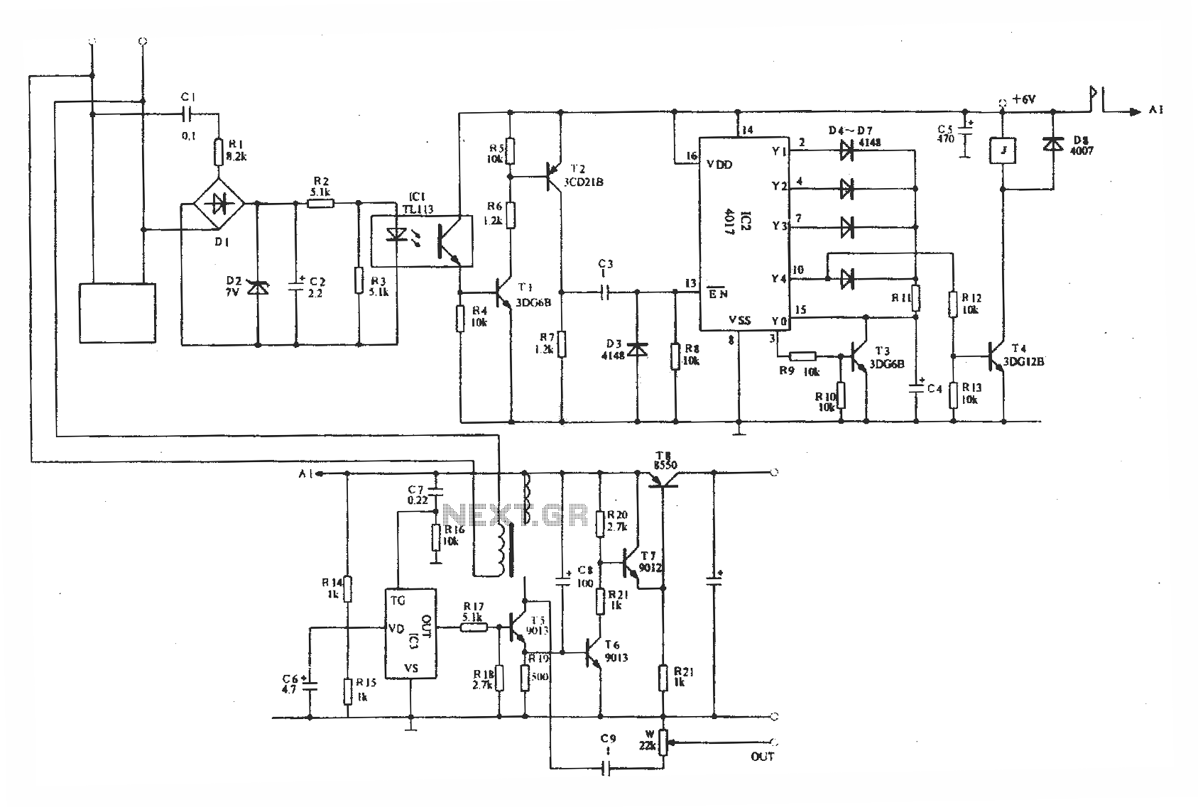Automatic Telephone Recording Interface Circuit Optical