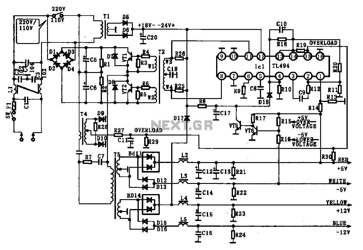 Current Sensing Switch 555 Schematic