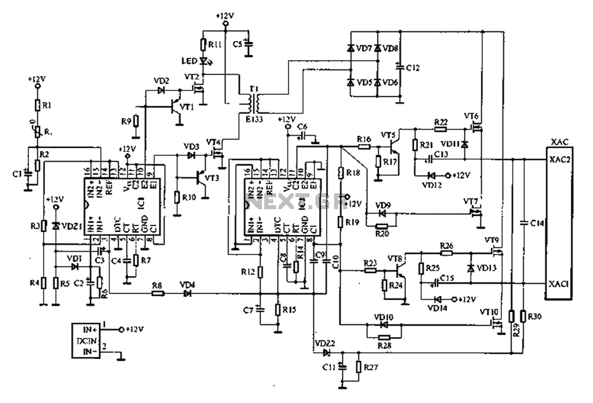 A Common Car Inverter Circuit Diagram And Working