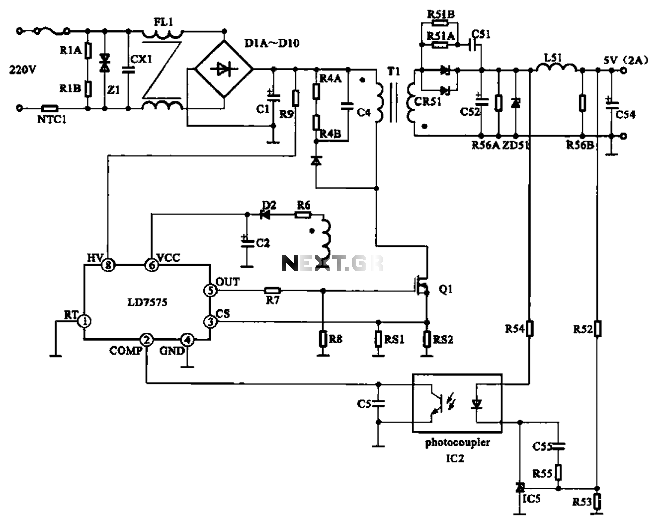 Power Adapter Schematic