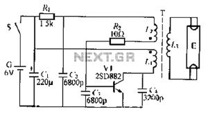 Batterypowered fluorescent lamp circuit 1 under