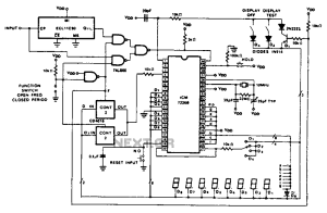 Cycle 100 MHz frequency counter circuit diagram under