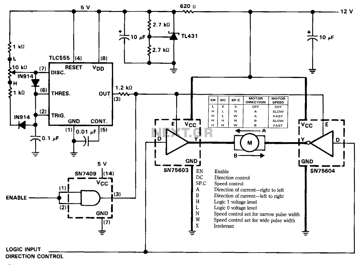 Bidirectional Motor Control Circuit
