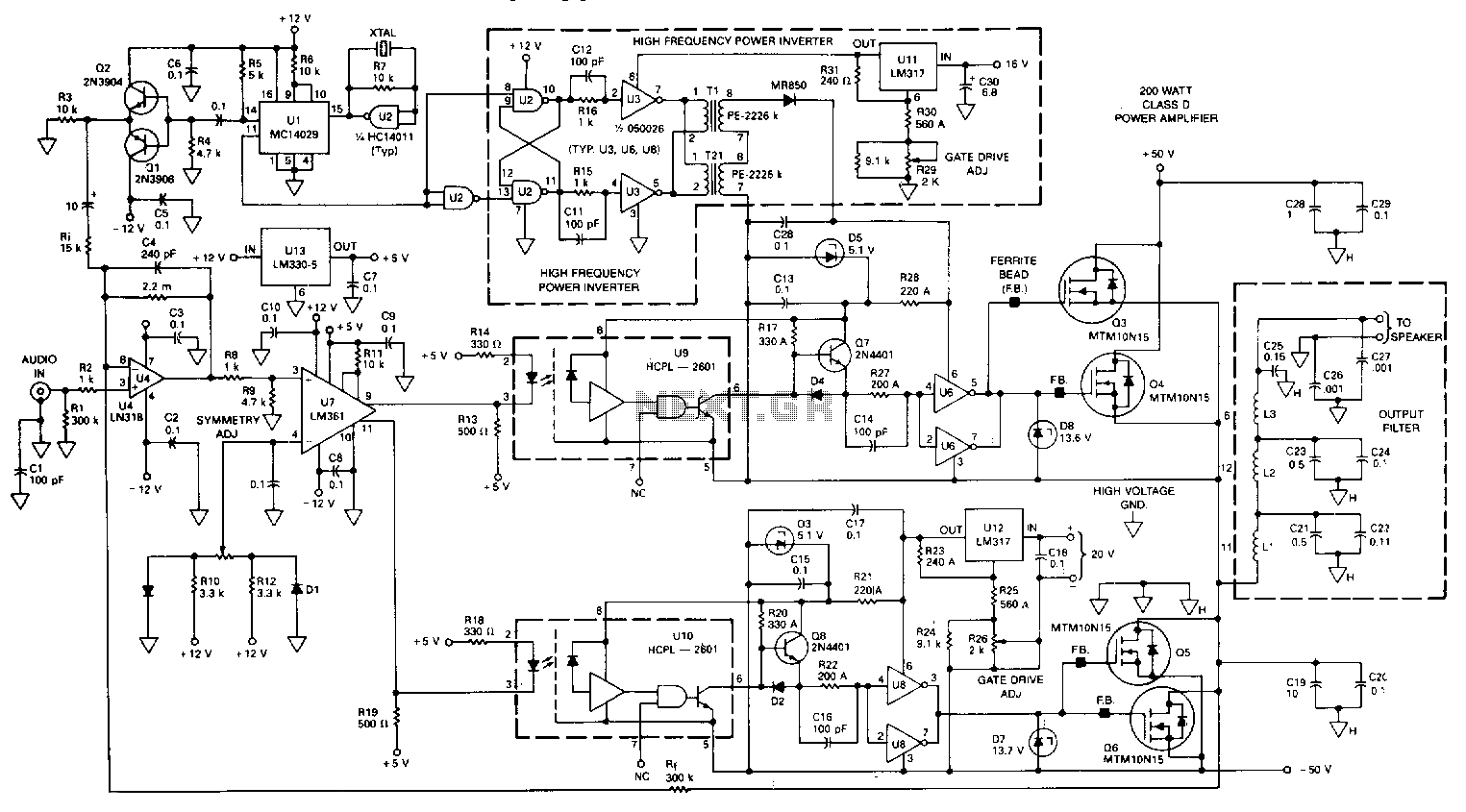 Circuit Diagram Of Class D Amplifier