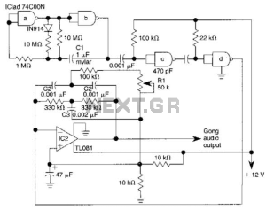 Electronic Gong Circuit under Musical & Effects Circuits 15034 : Nextgr