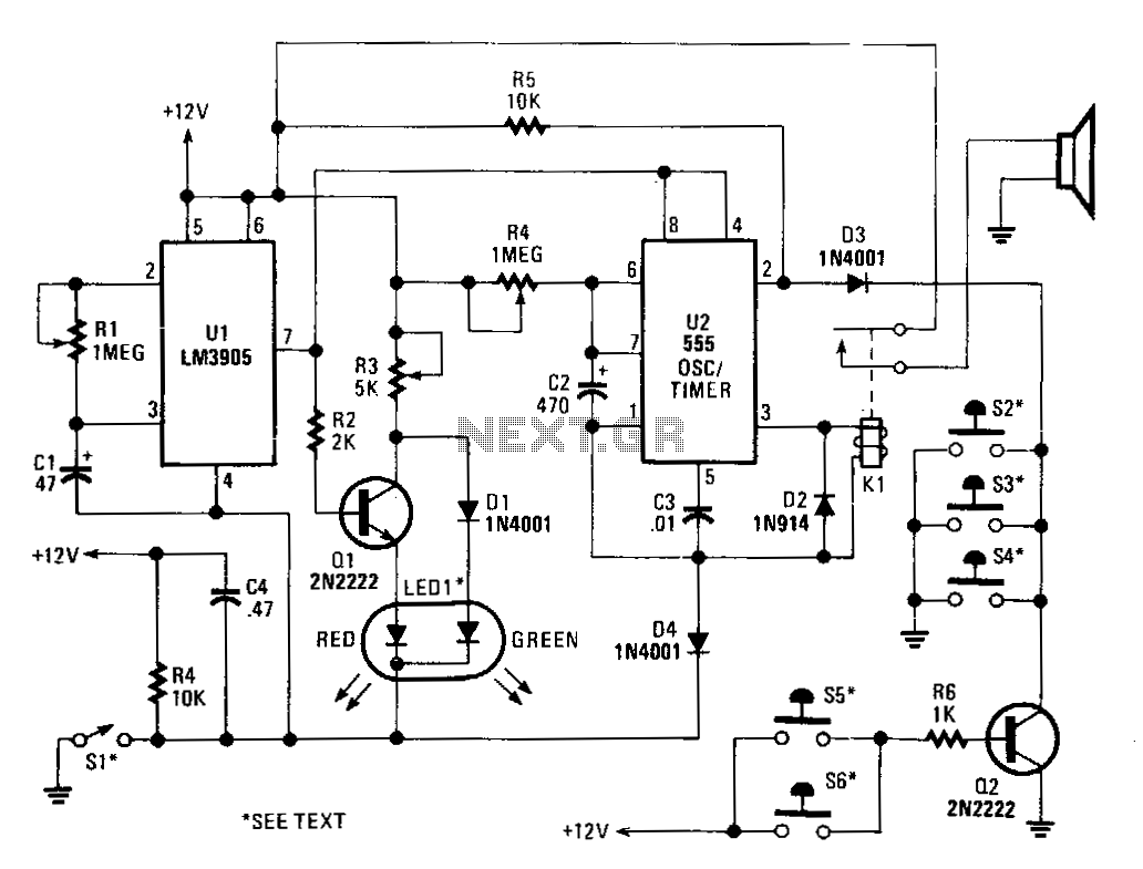 Alarm Schematic Diagram