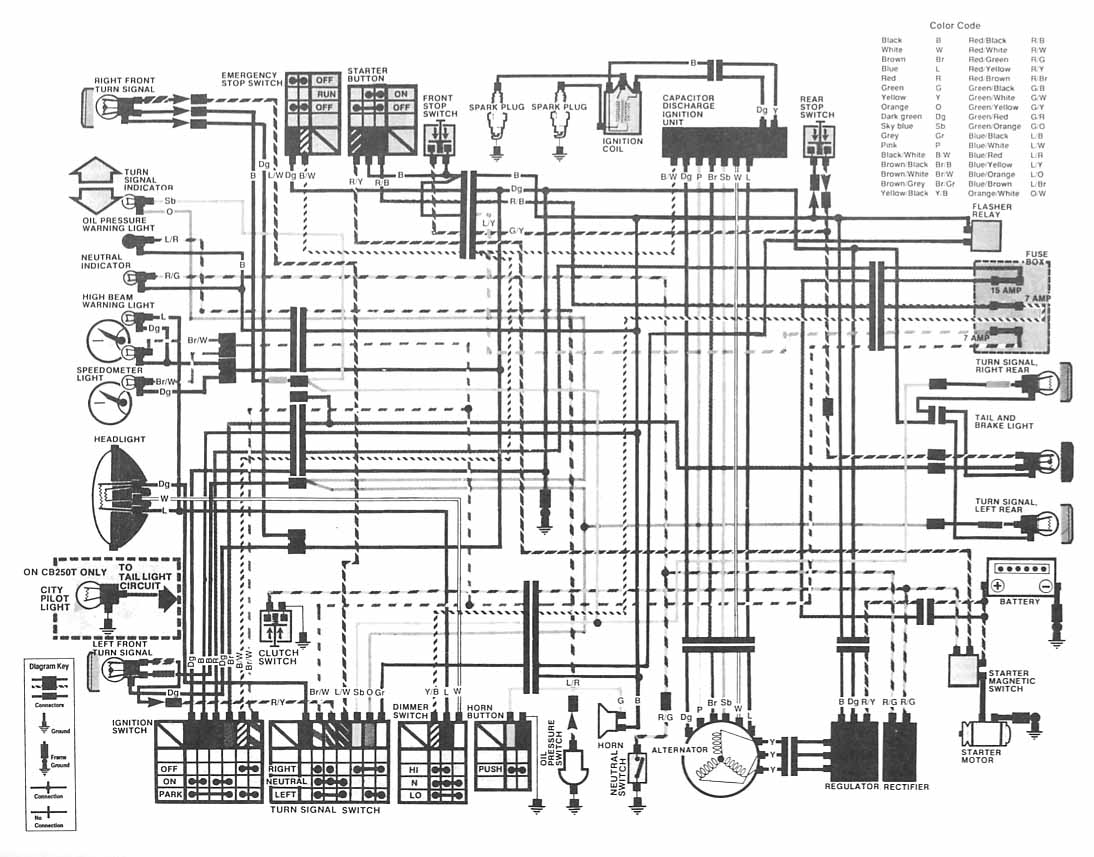 Gt Circuits Gt Honda Motorcycle Cb400 Hawk Ii Wiring Diagram