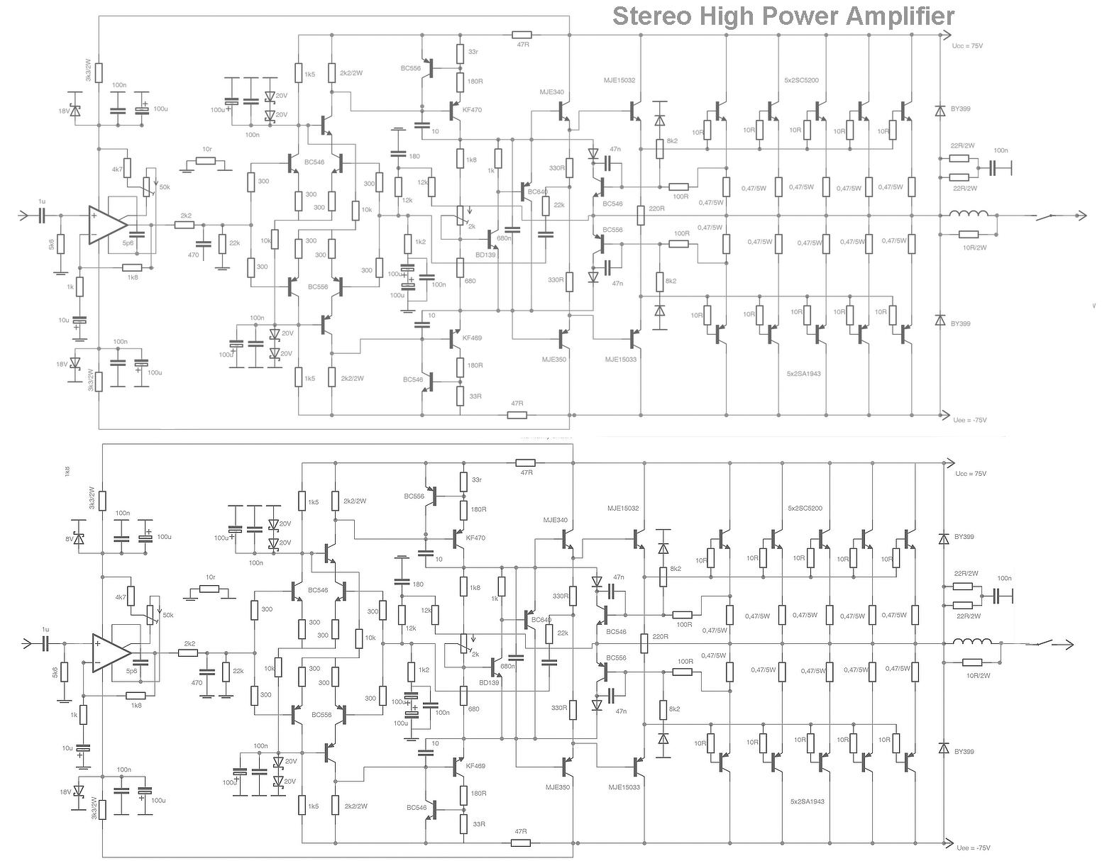 Circuit Diagram W Audio Amplifier