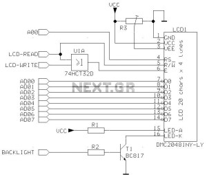 lcd circuit Page 4 : Light Laser LED Circuits :: Nextgr