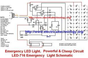 > circuits > Emergency LED Light LED 716 Emergency Light Schematic l41039  Nextgr